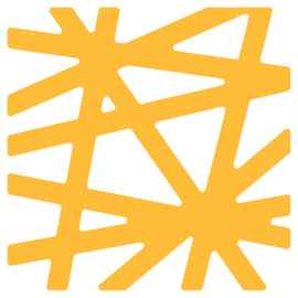 Price Lab logo in bright yellow. Logo is a square made up of intersecting lines