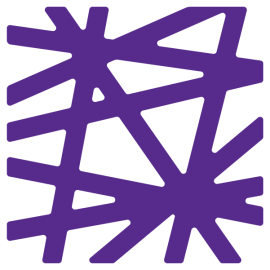 Price Lab logo in a vibrant purple. Logo is a square made up of intersecting lines