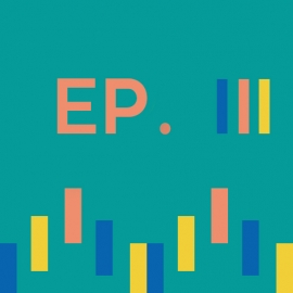 Episode 3 icon with sound wave illustration