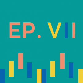 Episode 7 icon with sound wave illustration and Roman numeral 7
